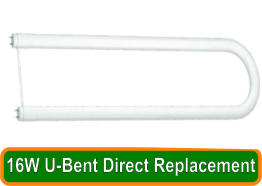 16W U-Bent Direct Replacement